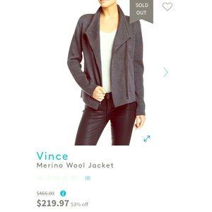 Vince women's Merino Wool Jacket, XS!